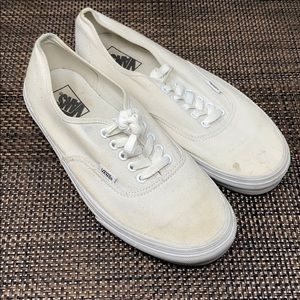 White Authentic Vans